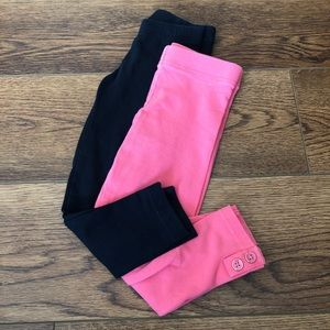 👧2T Carter's Set of 2 Leggings - Pink & Black 💗